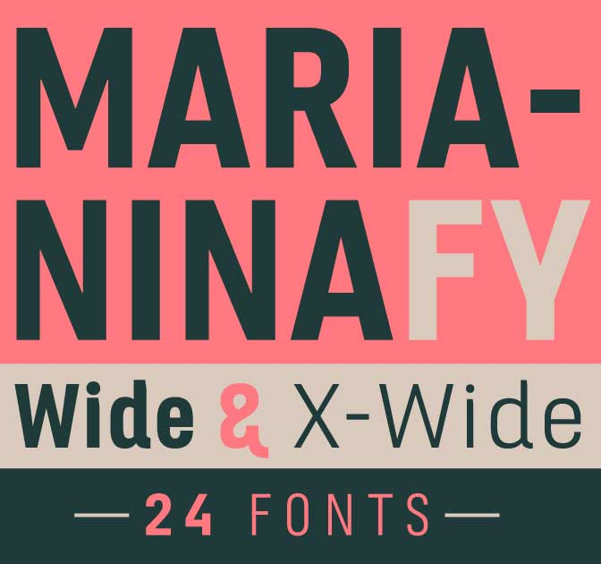Marianina Extended Font Family (24 Fonts) - only $27!