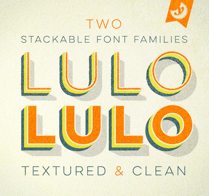 FONT BUNDLE: Lulo Font Families (textured and Clean) - only $14!