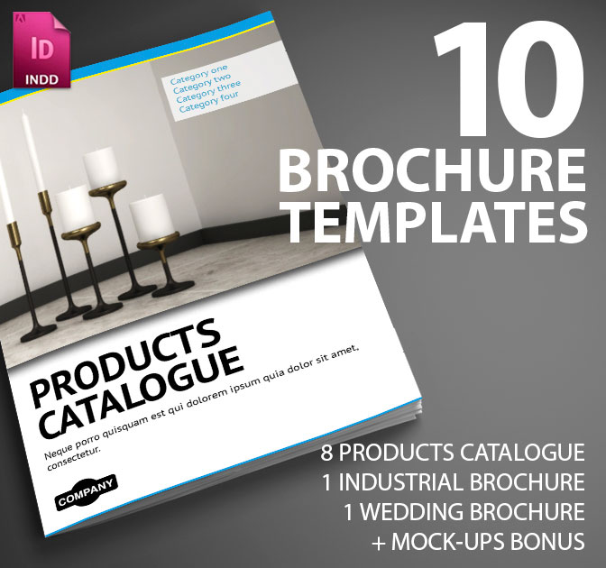 10 Professional InDesign Brochure Templates from Smarty Bundles