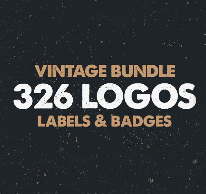 Vintage Bundle: 326 Awesome Labels and Badges Templates