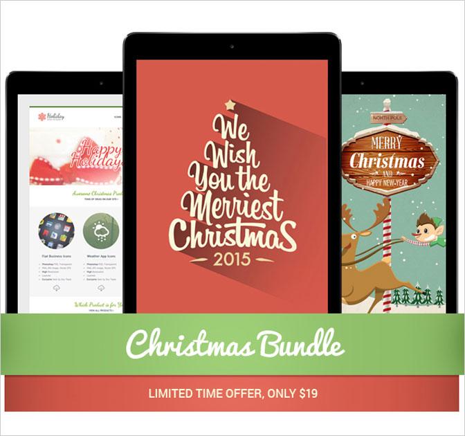 Mega Christmas-Themed Web Design Bundle - only $19!