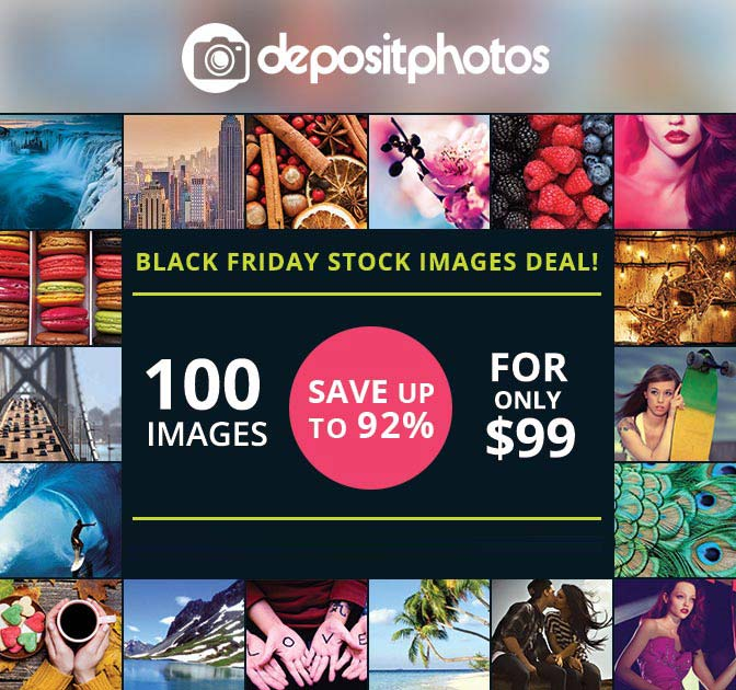 BLACK FRIDAY DEAL: Massive Discounts on Stock Photos - 90% off!