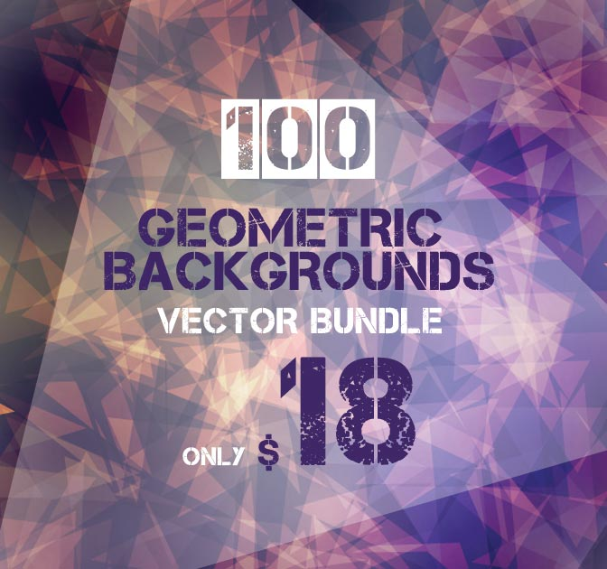 100 Geometric Vector Backgrounds from Ingimage - only $18!