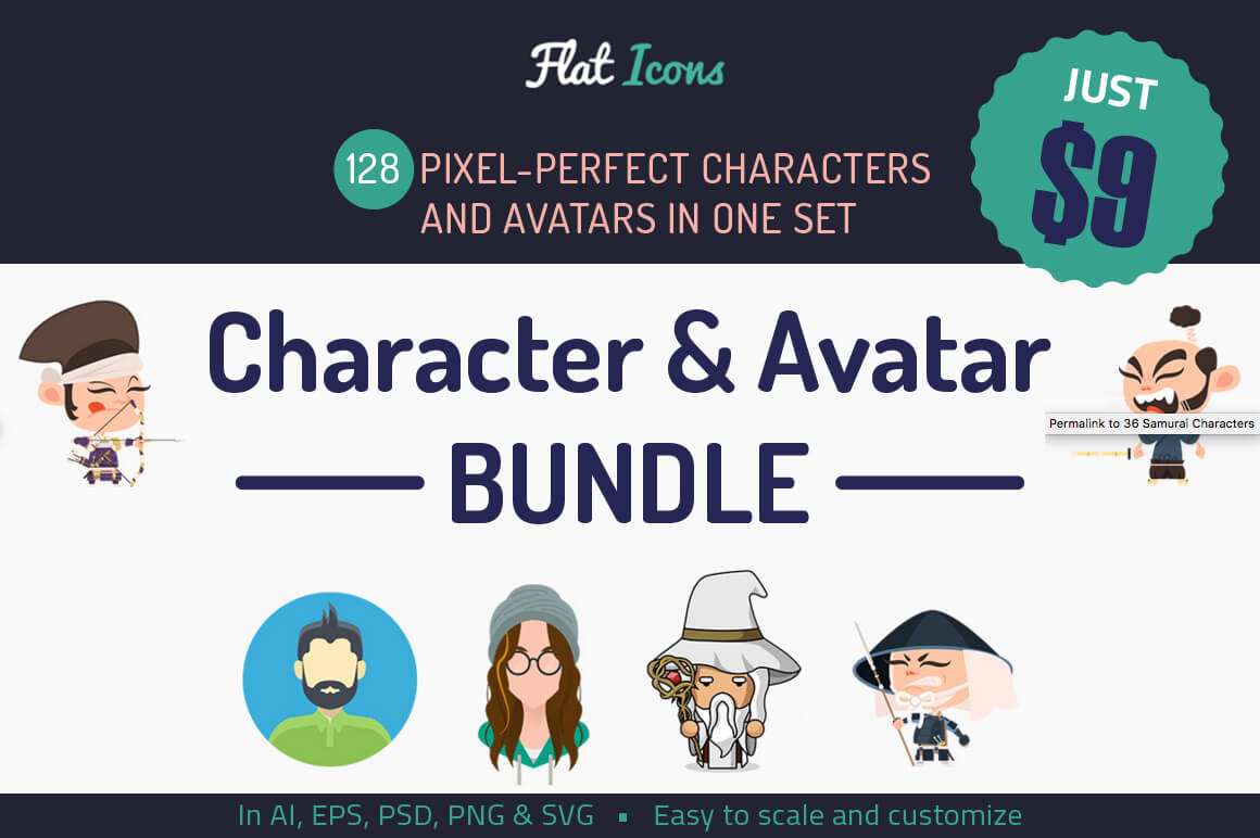 Add Serious Fun with 125+ Colorful Characters and Avatars