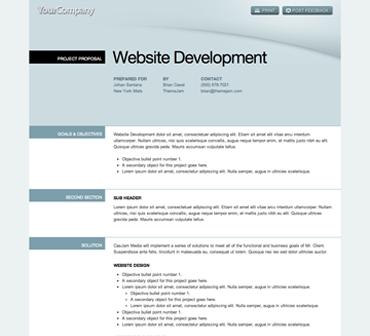 web proposal templates - Oyle.kalakaari.co