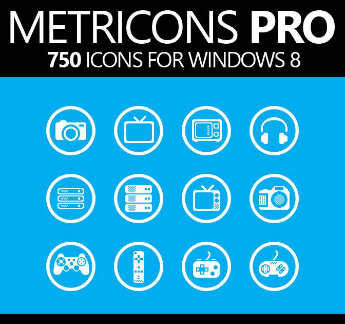 750  Windows 8 Premium Vector Icons - only  18 Windows 8 Vector Icon