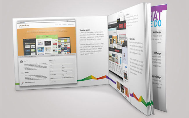 Colorful Portfolio Book